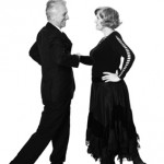 Aged couple dancing